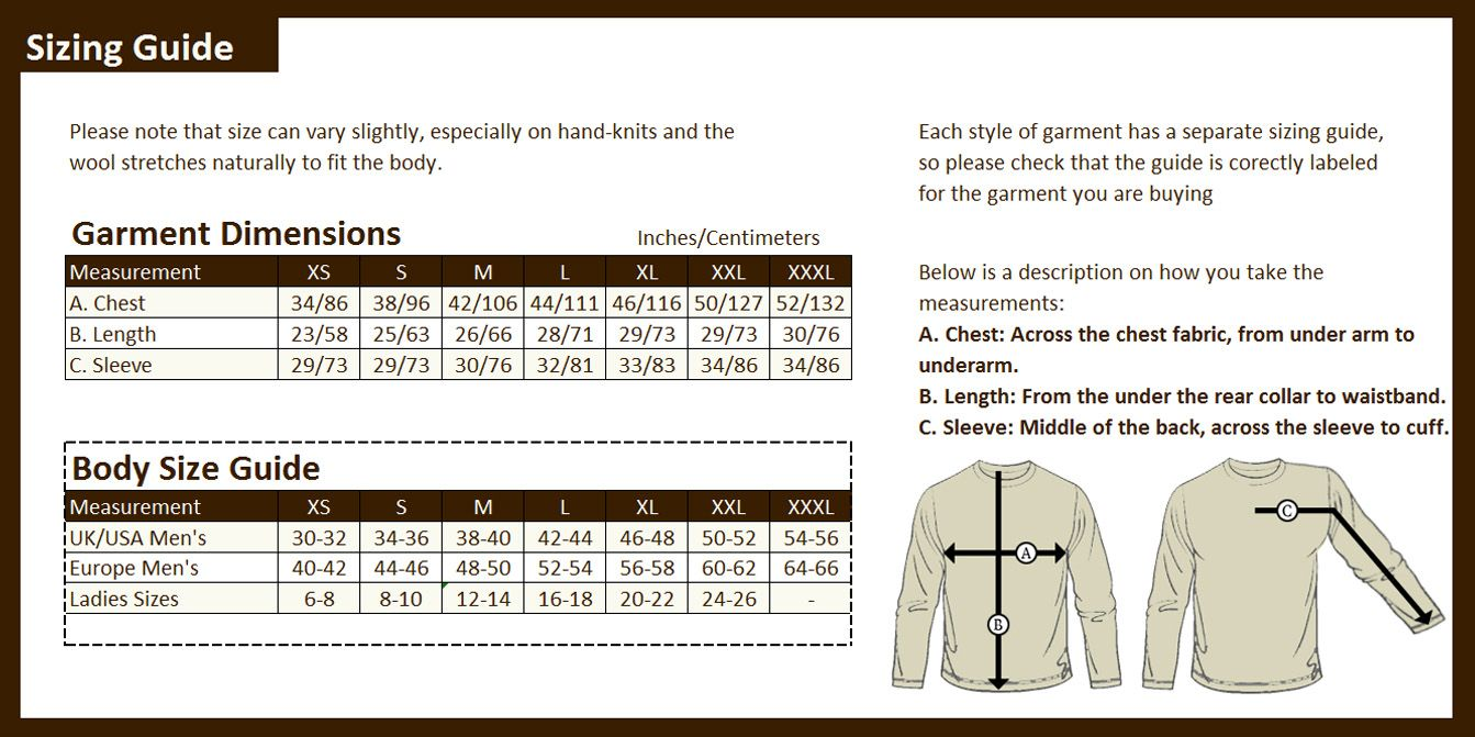 Mens Shirt Size Chart In Cm | Top Mode Depot