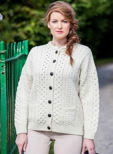 Merino Wool Aran Lumber Jacket