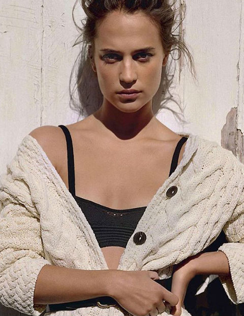 """""""Bottega Veneta's womanly bustiers have a finely spun allure. An Aran Knit and a Seafarer's shurg add a rustic edge"""""""