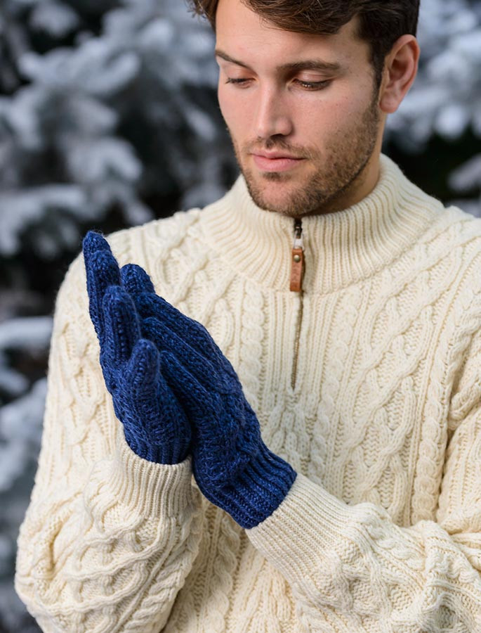Cable Knit Gloves Knit Gloves Aran Sweater Market