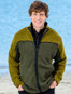 Men's Fleece Lined Wool Jacket  - Khaki