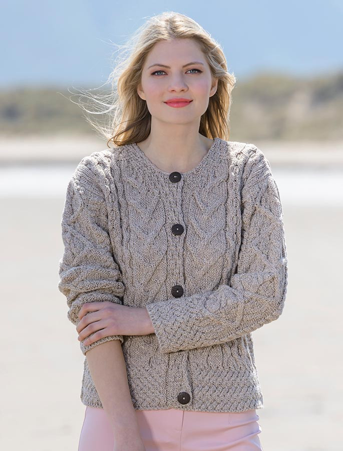 Aran Cable Knits Cardigan Cable Knit Cardigans For Women