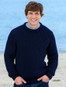 Irish Fisherman Ribbed Sweater - Navy