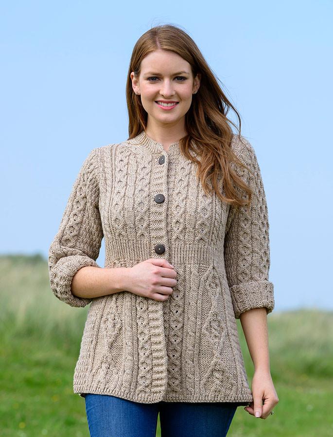 880e30694be Women s Merino Wool A-Line Fit Cardigan - Wicker