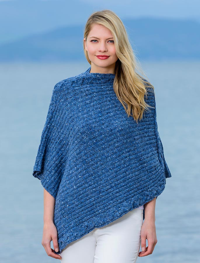 22f85c802 wool poncho sweater, merino wool poncho | Aran Sweater Market