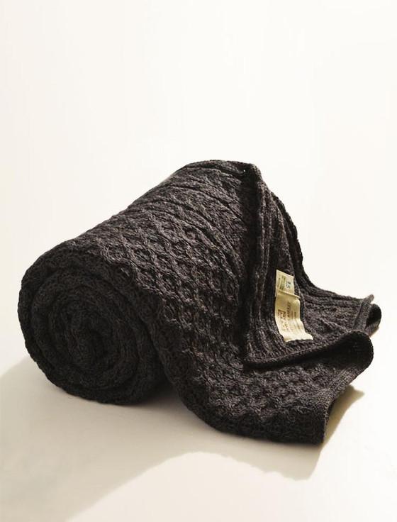 Honeycomb Aran Throw