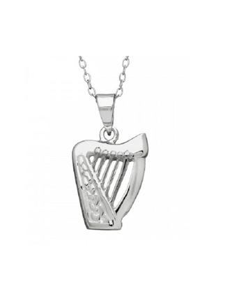 Sterling Silver Harp Pendant