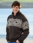 Celtic Troyer Sweater - Grey Welsh/Skiddaw
