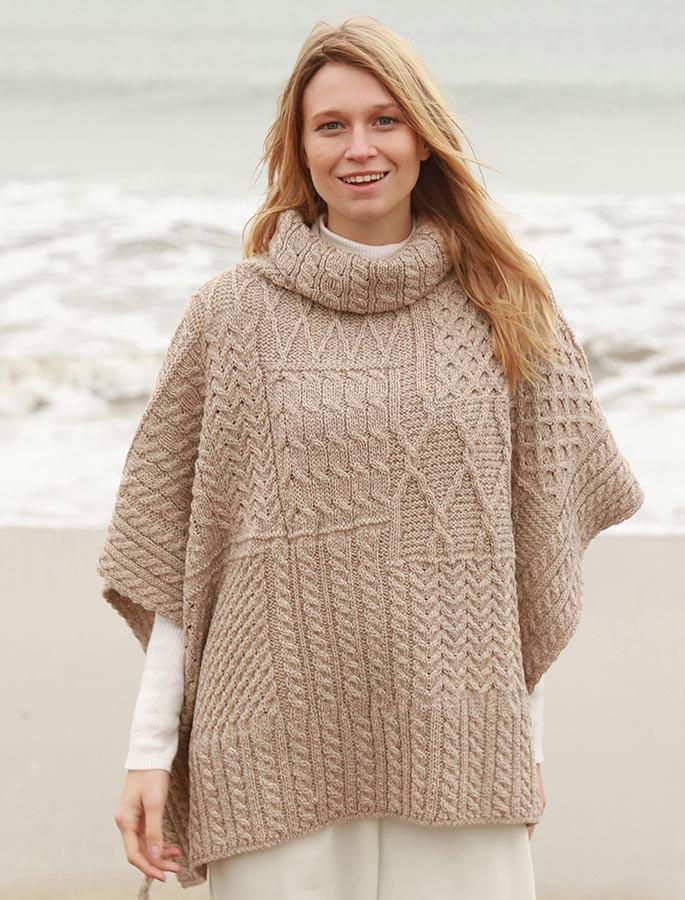d9f7cc92c poncho capes women, Wool poncho   Aran Sweater Market