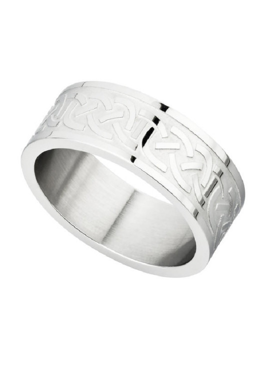 Steel Engraved Celtic Knot Ring