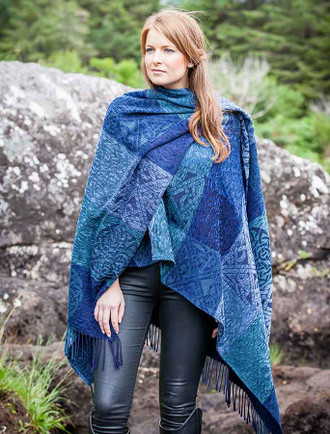 Irish Celtic Wrap Ruana - Stirling