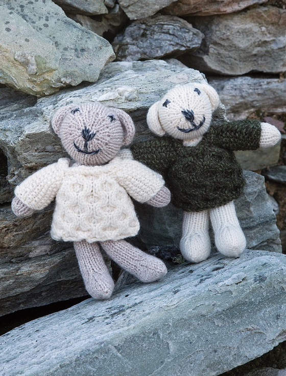 Aran Wool Baby Teddy Bears