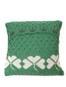 Shamrock Cushion Cover - Kiwi With White