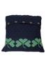 Shamrock Cushion Cover - Navy With Kiwi
