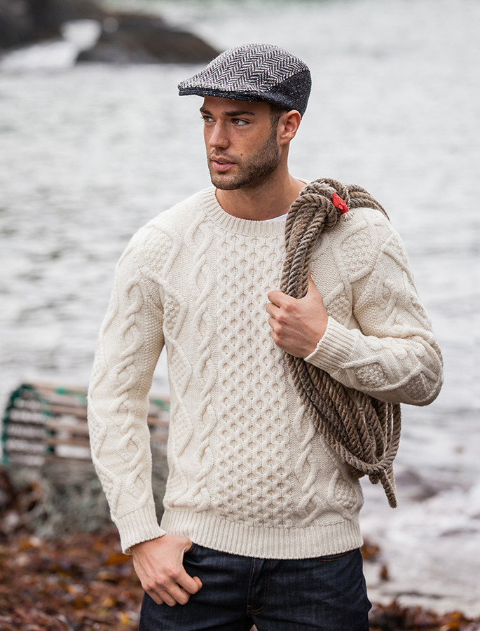 f2467f97b71ae6 Fisherman sweater, cable knit sweater men | Aran Sweater Market