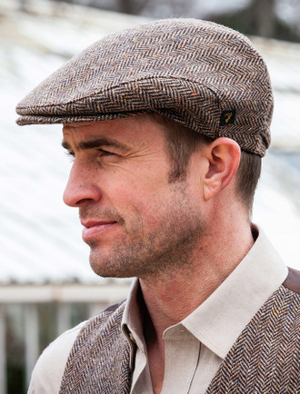 Trinity Tweed Flat Cap - Brown ... 9f5f40ca230