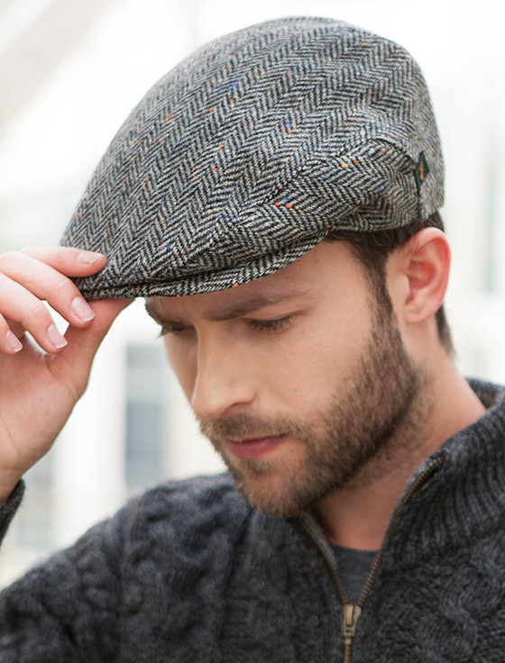Trinity Tweed Flat Cap - Grey