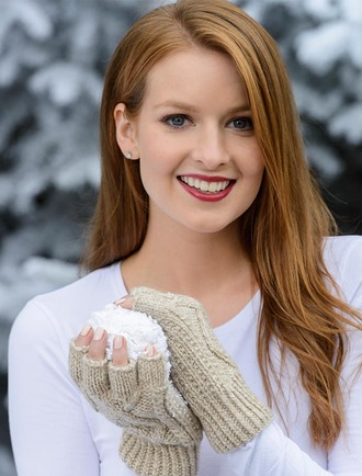 Fingerless Gloves - Honey Oat