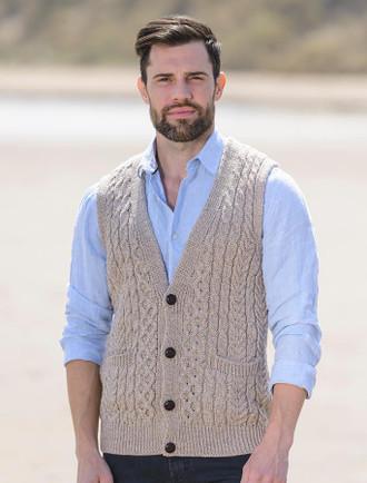 Men's cotton v neck vest