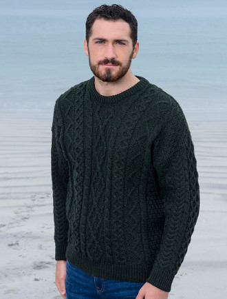 Mens Wool Sweaters Irish Fisherman Sweater Irish Sweaters