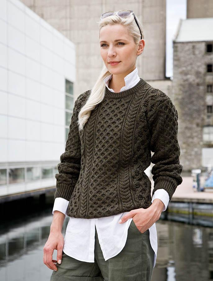 Heavy Wool Sweater Oversized Sweater Aran Sweater Market