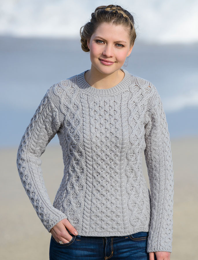 Womens Fisherman Sweater Aran Sweater Market