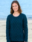 Lambay Aran Sweater for Women - Atlantic