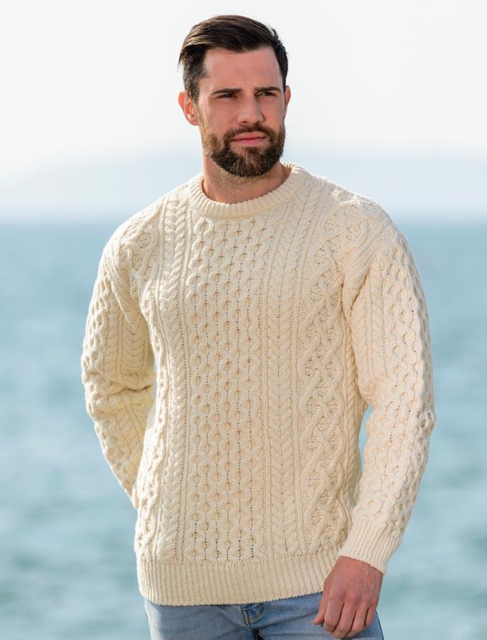 Heavyweight Merino Wool Aran Sweater