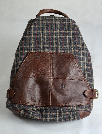 Tartan & Leather Backpack