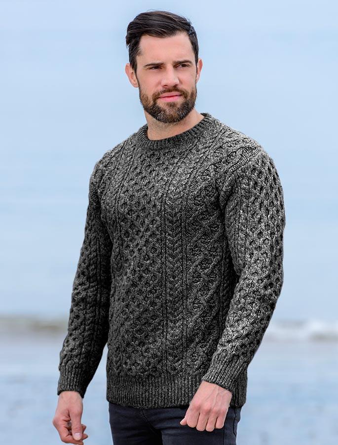 66618e243 Wool Cashmere Aran Sweater