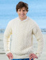 Wool Cashmere Aran Sweater - Natural White