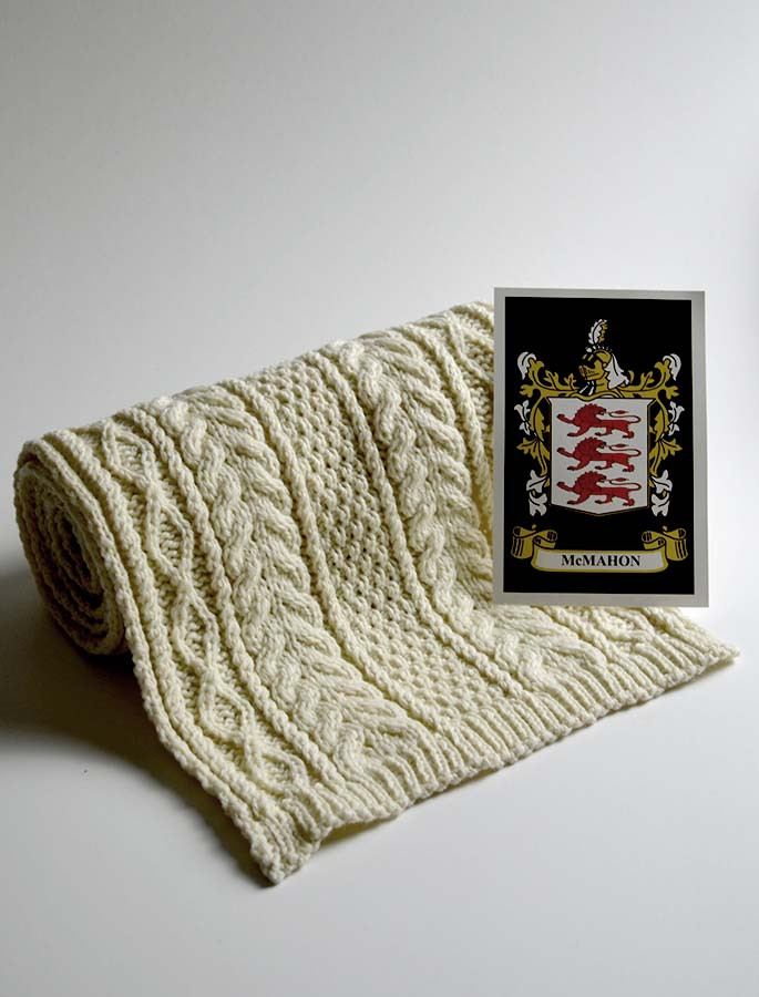 Mc Mahon Clan Scarf Cable Knit Scarf