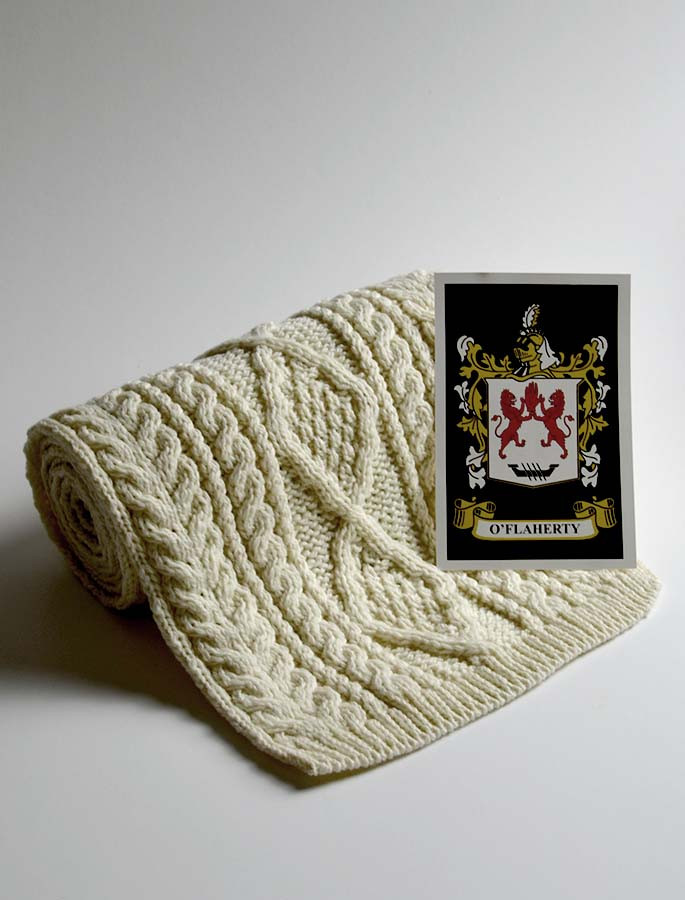 O Flaherty Clan Scarf Cable Knit Scarf