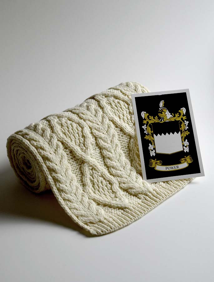 Power Clan Scarf Cable Knit Scarf
