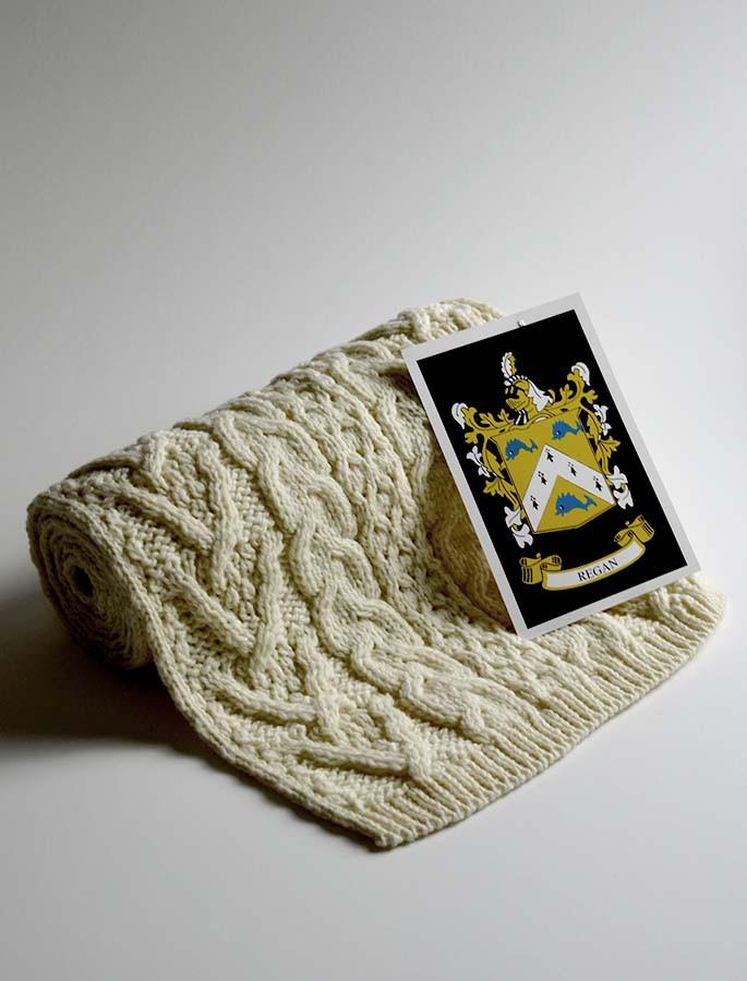 Regan Clan Scarf Cable Knit Scarf