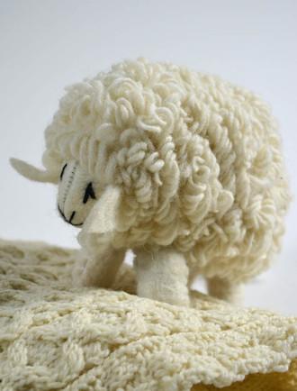 Aran Wool Sheep Toy