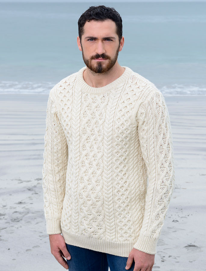 Lattice Cable Aran Sweater Cable Knit Aran Sweater Market