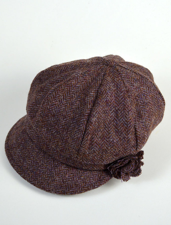 Ladies Shannon Newsboy Hat - Purple