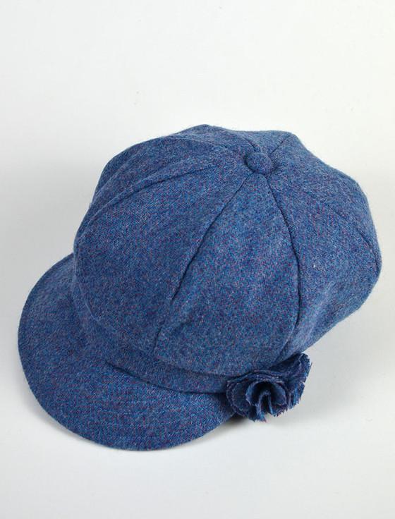 Ladies Shannon Newsboy Hat - Denim