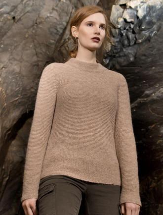 Links Stitch Mock Neck Sweater - Buff