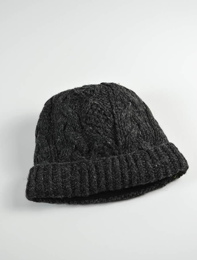 ad54befcc44 Aran Fleece Lined Rib Cap - Charcoal