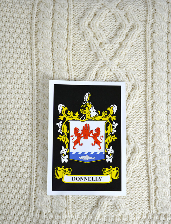 Donnelly Clan Aran Throw