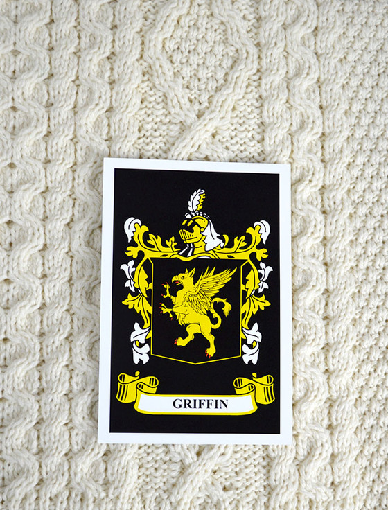 Griffin Clan Aran Throw