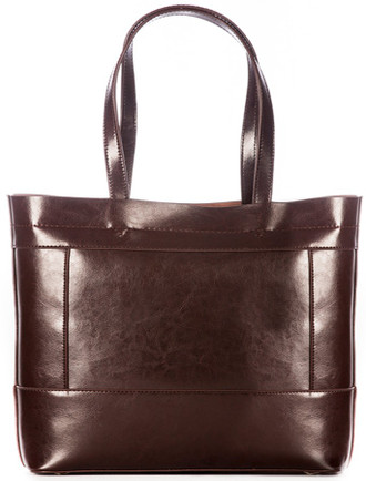 Ladies Large Tote Leather Bag- Turf