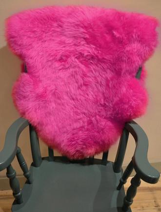Deep Pile Sheepskin Rug - Pink