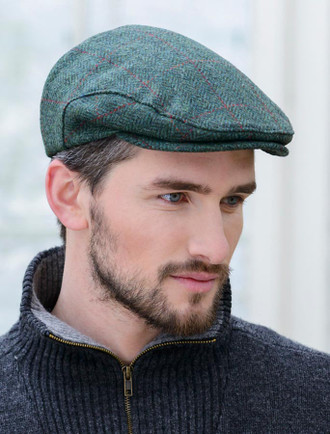 Trinity Tweed Flat Cap - Green Plaid ... 7e4fa495133