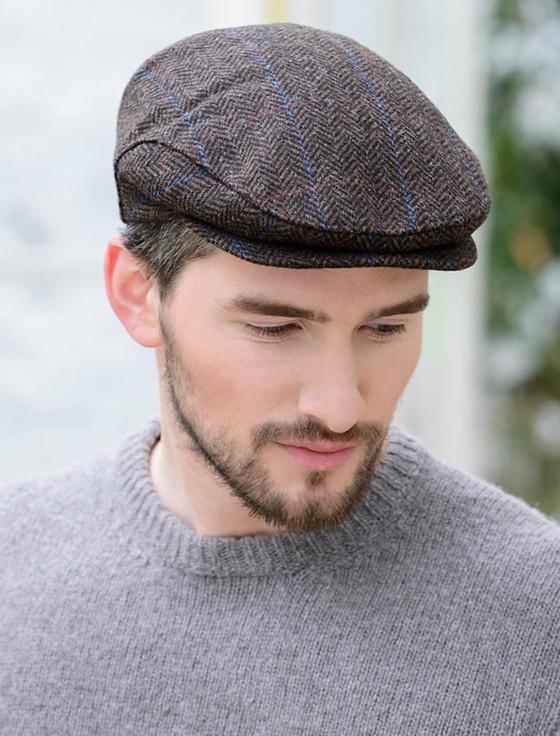 Trinity Tweed Flat Cap - Dark Brown
