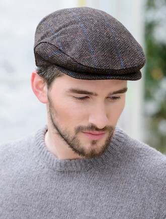 Trinity Tweed Flat Cap - Dark Brown