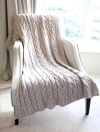 Super Soft Aran Throw - Classic Aran