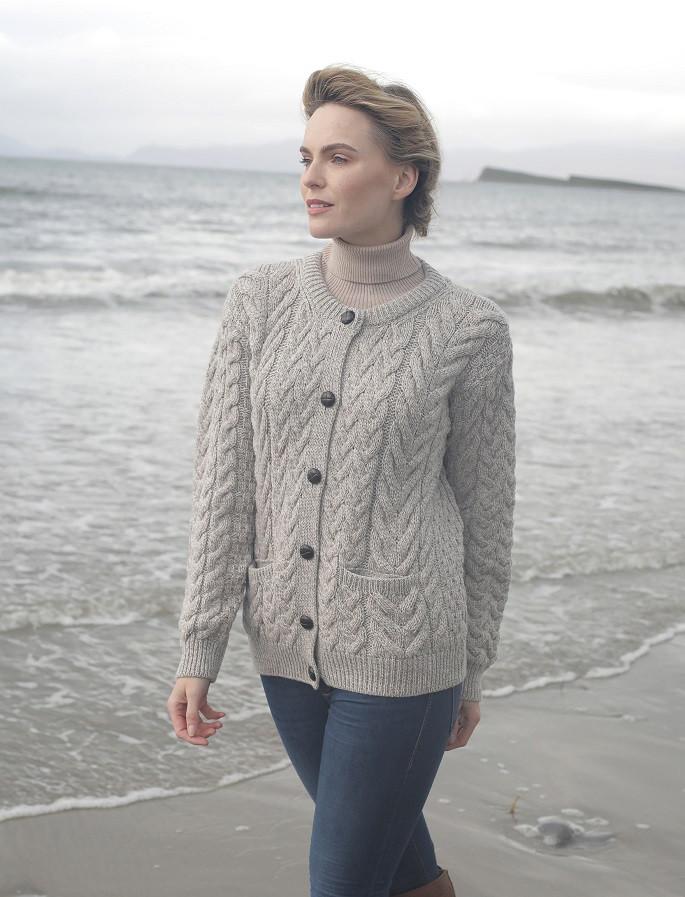 Ladies Hand Knit Merino Lumber Jacket